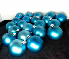 Lot of 21 Light Blue Ornaments Shatterproof Balls Christmas Decor
