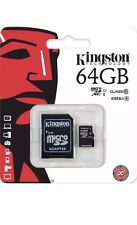Kingston 64 GB Micro SD, tarjeta de memoria SDXC Clase 10 Con Adaptador