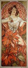 Gobelin Tapestry Needlepoint Kit Mucha Ruby printed canvas 615