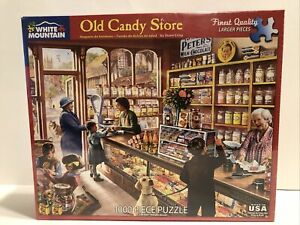 NEW & SEALED / OLD CANDY STORE 1000 PIECE JIGSAW PUZZLE  / WHITE MOUNTAIN