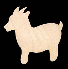 "Goat Animal Shape 4"" Natural Craft Wood Cutout #552-4"
