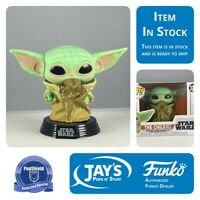 Funko Pop Star Wars Mandalorian The Child with Frog PopShield In Stock