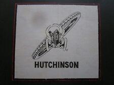1927 PUB HUTCHINSON PNEU TYRE PNEUMATIQUE AVION AUTOMOBILE MICH ORIGINAL AD