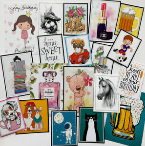 """*SALE* Clear Out Set AS PHOTO Mixed Printed Images/Toppers 2-4"""" (0041)"""