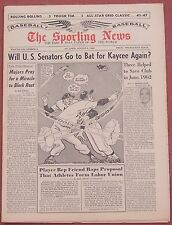 8-3-63 SPORTING NEWS YANKEES AND DODGERS ON COVER JACK NICKLAUS BASEBALL`