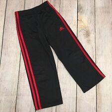 Adidas Boys Pants Black With Red Stripe Size 4