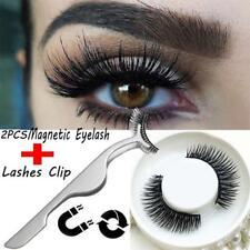2pcs 3D Magnetic False Eyelashes Eye Lashes Makeup Kit + False Eyelash Clip