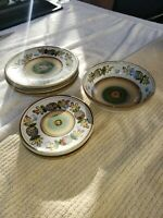 Louisville Stoneware Pottery Fall Autumn Thanksgiving Acorn & Oak Plate Bowl Lot