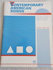 Taylor Contemporary American Art Songs Low Voice Piano Unmarked