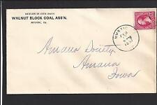 """MYSTIC, IOWA COVER, 1897.  ADVT: """"WALNUT BLOCK COAL ASS'N""""."""
