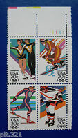 Sc # 2067-2070 (2070a) ~ Plate # Block ~ 20 cent 14th Winter Olympic Games Issue