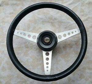 Classic OEM  Mini Cooper - 1275GT  15in 3 Spoke Black Leather Steering Wheel