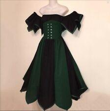 Victorian Maiden Costumes Halloween Cosplay Medieval Renaissance Women Dress