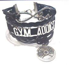 Gym Addict Infinity Love Bracelet w weight Charm