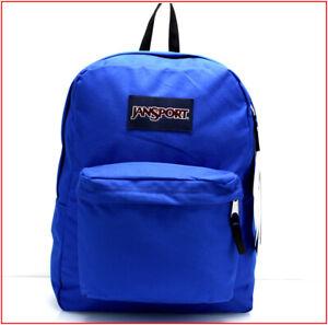 """Jansport SUPERBREAK 17"""" Backpack - 25 Liter LARGE Bag - BLUE Streak 🌟NEW🌟"""