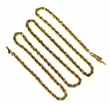"""14k yellow gold 2.48mm rope chain necklace 14.2g vintage 20"""" estate antique"""