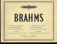 """Brahms : Sämtlche Orgelwerke I """" 4 frühe Kompositionen"""