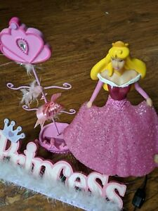 PRINCESS SET WITH NIGHT LIGHT LAMP/JEWELRY STAND AND ROOM DECOR FOR GIRL`S ROOM.