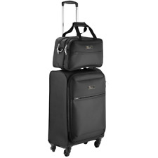 Cabin Max Copenhagen hand luggage trolley suitcase set | 55x40x20cm and Stowaway