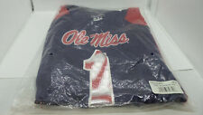 Womens Ole Miss NCAA Short Sleeve T Shirt Blue / Red Size XS NWT