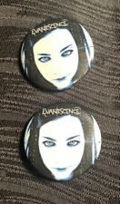 Evanescence Concert Pins Buttons Collectible Lot Of 2