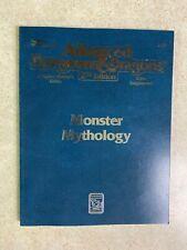 Vintage 1992 Tsr Advanced Dungeons & Dragons 2nd Monster Mythology Handbook