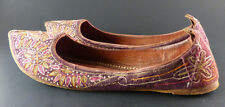 Vintage 1960/ 70's Chinese Oriental Embroidered Handmade Shoes Chinese Size 35.5