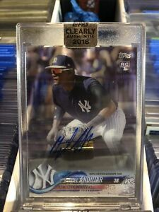 2018 Topps Clearly Authentic Miguel Andujar RC AUTO Rookie Autograph Yankees