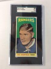 1964-65 Vic Hadfield Topps Tallboy #62 SGC 86 Hockey Card