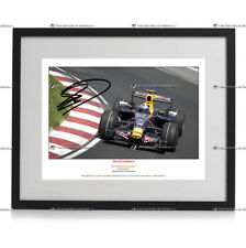 David Coulthard FORMULA 1 RED BULL RACING AUTOGRAFO FIRMATO