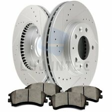 Front Discs Brake Rotors And Ceramic Pads For 2003-2005 Mazda 6 Drilled Slotted