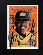 1996 UPPER DECK JON NUNNALLY-PEORIA JAVELINAS AUTOGRAPHED  CARD-NM