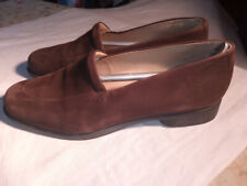 Ecco rich mid brown suede leather loafers 42 uk 8