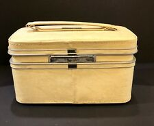 Samsonite Fashionaire 100 Yellow Gold Mod Makeup Vanity Train Case Excellent