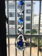 Blue Rose Carved Suncatcher Crystal Prism 2'' Chandelier Part Hanging Pendant