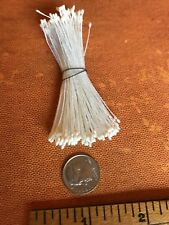 Vintage Millinery Flower All White Stamen Bunch with very fine tips Y79