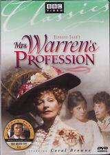 MRS WARREN'S PROFESSION 1972 (BBC, CORAL BROWNE) *NEW DVD*