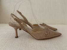 Jimmy Choo Nude Kitten Heel Shoes Size 36.5 USED Gently worn