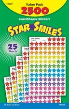 Trend Supershapes Star Smiles Stickers - 2500 Star - Assorted (T46917)