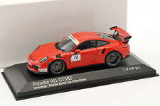 Porsche 911 (991) GT3 RS #16 Porsche Sports Cup Promo Car lava orange 1:43 Minic