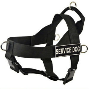 Non Pull Service Dog Harness Vest Removable Patches for Medium Large XL Dogs