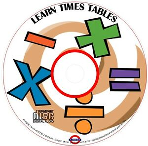 Children's Singalong Learn Times Tables CD Improve Maths Multiplication Free p&p