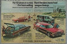 1978 Ford WAGONS 2-page advertisement Ford ad FAIRMONT LTD PINTO CLUB WAGON VAN