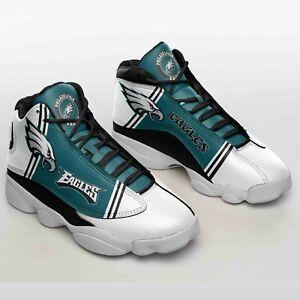 Philadelphia Eagles Air JD13 sneakers, Philadelphia Eagles NFL Sports shoes