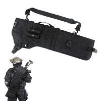 Black Hunting Rifle Scabbard Rifle Shotgun Military Case Shoulder Carry Bag