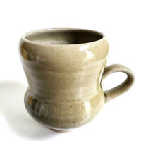 Unique Pottery Coffee Mug Cup, Artist Signed, Studio, Stoneware Hand Made