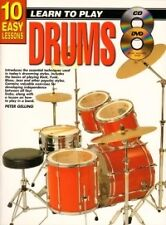 10 EASY LESSONS Drums Book + CD & DVD*