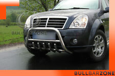 SSANGYONG REXTON 2006-2012 TUBO PROTEZIONE MEDIUM BULL BAR INOX STAINLESS STEEL!