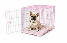 NEW Pink Secure and Compact Single Door Metal Dog Crate Small