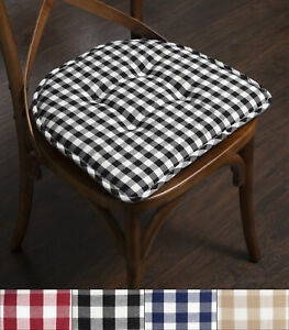Checkered Memory Foam U-Shape Non-Slip Chair Cushion 2, 4, 6 or 12 Pack